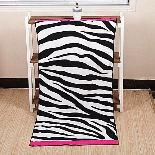 70x140cm Microfiber Soft Zebra Stripe Pattern Beach Bath Towels Absorbent Quick Dry Washcloth