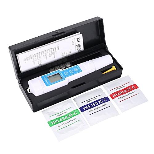 PH Meter 0-14PH Voltage TemperatureTester For Aquarium Water Quality Monitor