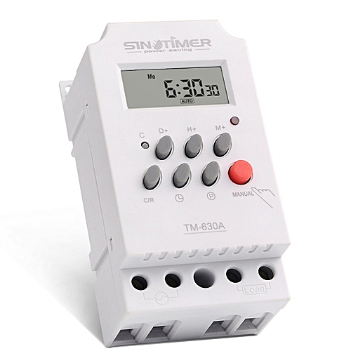 SINOTIMER 12V Weekly 7 Days Programmable Digital Timer Switch Relay Control