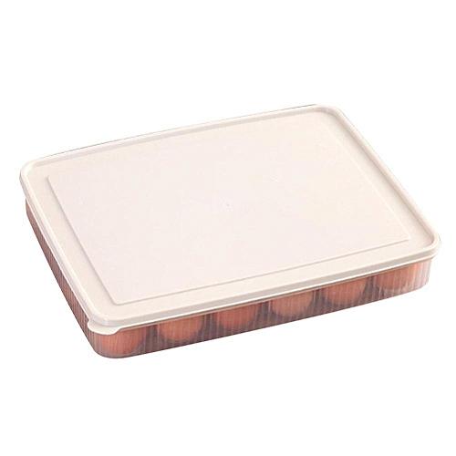 熊1Pc Egg Storage Holder Box 24 Grid Plastic Eggs Tray For Home Refrigerator Organizer
