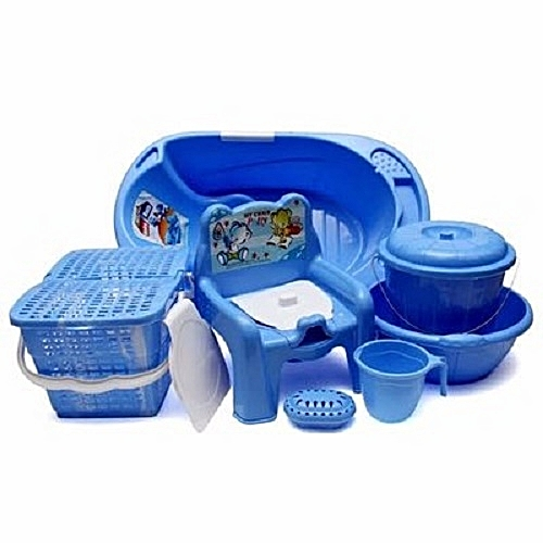 Baby Bath Set - 7pcs -Blue