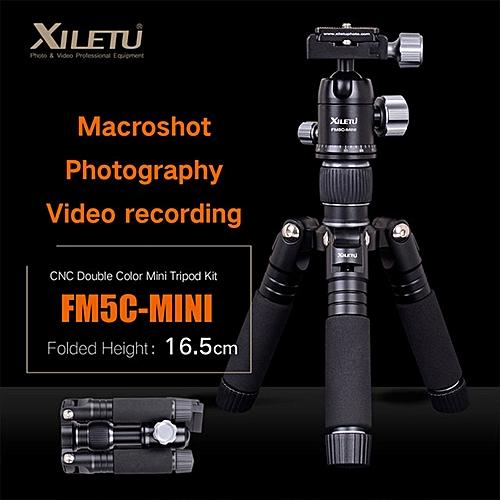 XILETU FM5C-MINI Desktop Tripod Aluminum Stable Tabletop Ball Head For Digital Camera Mirrorless Camera Smart Phone