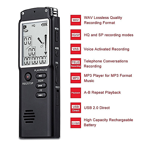 Generic Universal Voice Recorder USB Professional 96 Hours Dictaphone Digital Audio Voice Recorder With WAV,MP3 Player 8GB/16GB/32GB