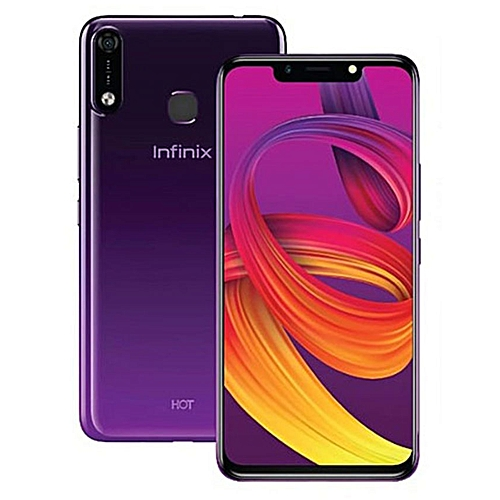 HOT 7 (X624) 6.2-Inch (16GB ROM, 1GB RAM) 13MP + 8MP 4000mAh Dual SIM, Face Unlock 3G Smartphone - Cosmic Purple