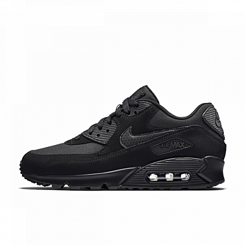 pretty nice d0955 9091c Nike Air Max 90 Essential Black Shoes
