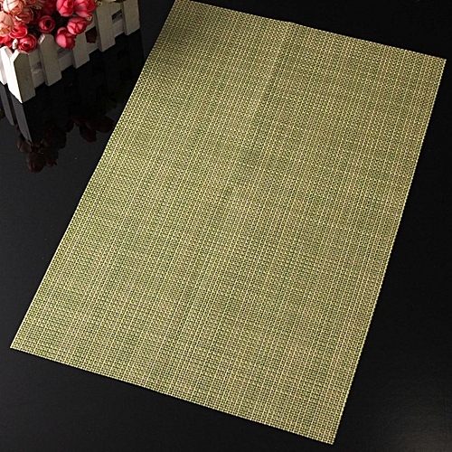 PVC Insulation Bowl Tableware Placemats Place Mat Home Bar Table Dining Coasters#Green