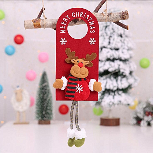 1PC Christmas Ornament Home Decoration Tree Door Hang Children Gifts Nonwoven Wannag