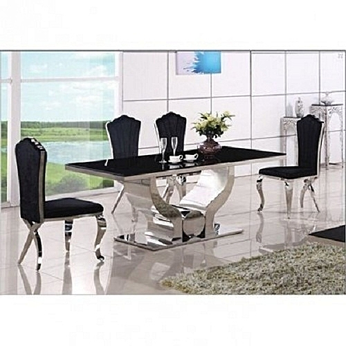 Exquisite Marble Dinning Table With 6 Chairs