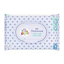 Little Angels 64 Fragranced Cotton Soft Baby Wipes