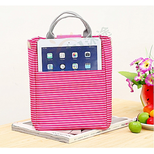 Hand-held Striped Insulation Lunch Bag And Fresh Picnic Package