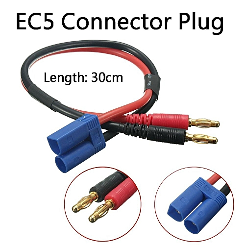 30CM 4mm Plug To EC5 Banana Male Connector Adapter Lead Battery Charge Cable 12#