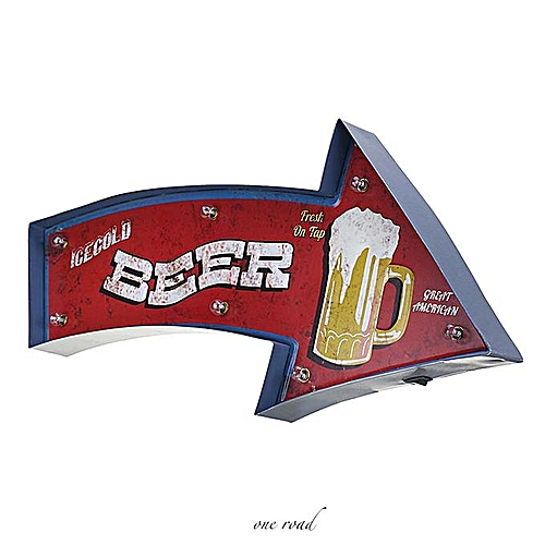 Neon Sign Painting Beer Arrow-Style Wall Decoration LED Lamp