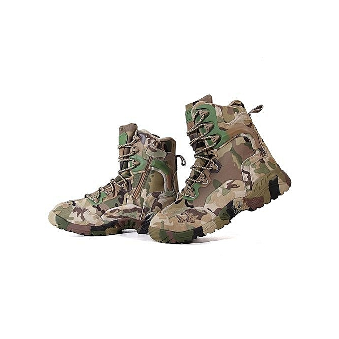 c608039e28a Men Ankle Boots Camouflage Shoes Military Tactical Combat Boots Desert Boots