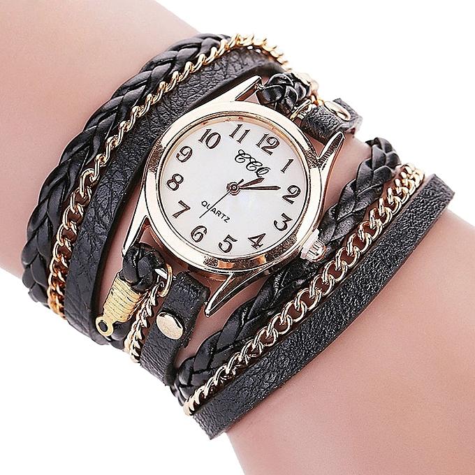 Lady Leather Wrist Watch CCQ CCQ Luxury Brand Vintage Leather Bracelet Watch Men Women Wristwatch BK