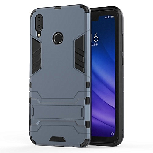 Huawei Y9 2019 Case Silicone Cover Anti-Knock Plastic Robot Armor Slim Phone Back Cases -Navy