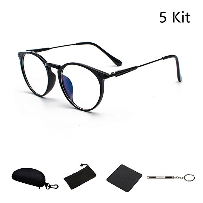 dbe5203c08968 Fashion Retro Nerd Large Frame Fashion Round Clear Lens Glasses 5Pcs ...