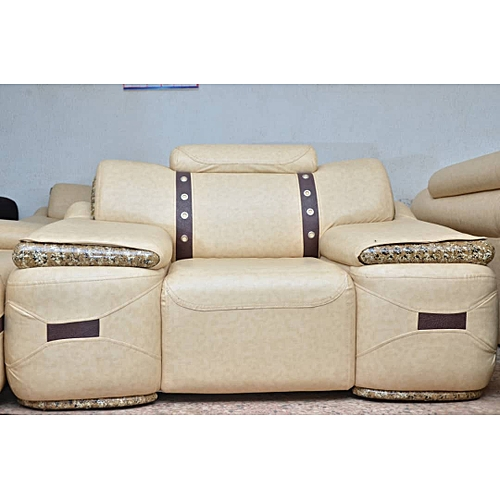 Cream Colored Marbled Sofa