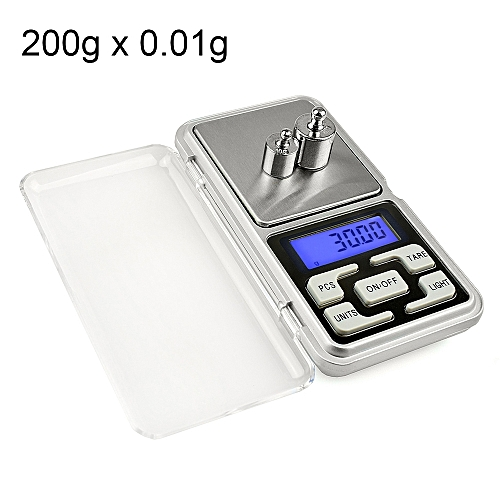 MH-200 200g X 0.01g High Accuracy Digital Electronic Portable Mini Pocket Scale Mobile Phone Weighing Scale Balance Device With 1.6 Inch LCD Screen