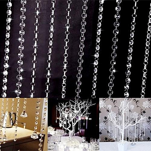 10Pcs 33ft/10m Garland Diamond Crystal Beads Door Curtain Wedding Decor