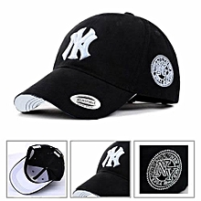 NY Designer Baseball Face Cap Hat- Black b7798e943197