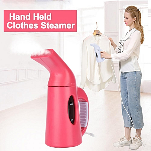 Hand Held Electric Garment Clothes Fabric Steamer For Home Travel JP Plug 100V (Rose Red)