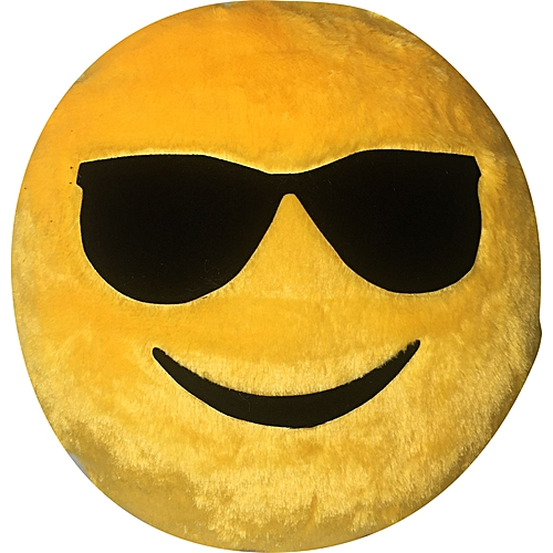 Cool Guy Smiley Pillow
