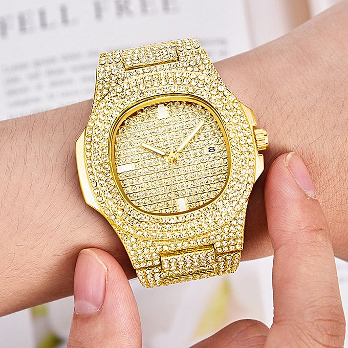 1985fca91a358 Mens Watches Iced Out Watch Gold Diamond Watch For Watch