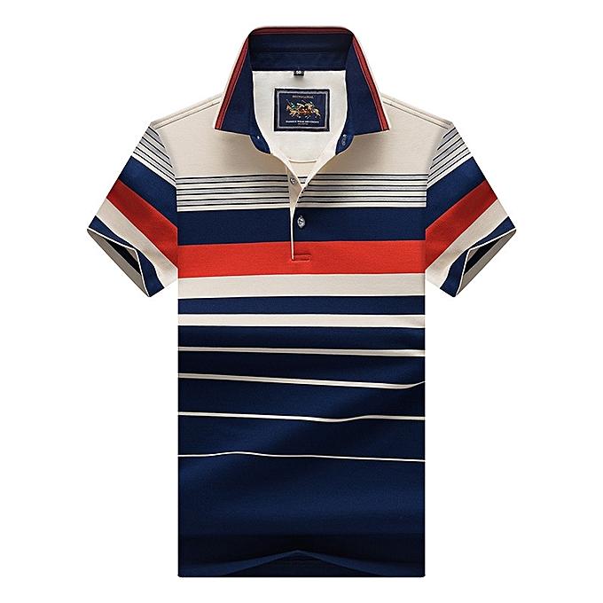 b8127ff0ef3 Super Big Size 8206 Men Polo Shirt New Cotton Summer Striped Polo Men  Business Casual Men s