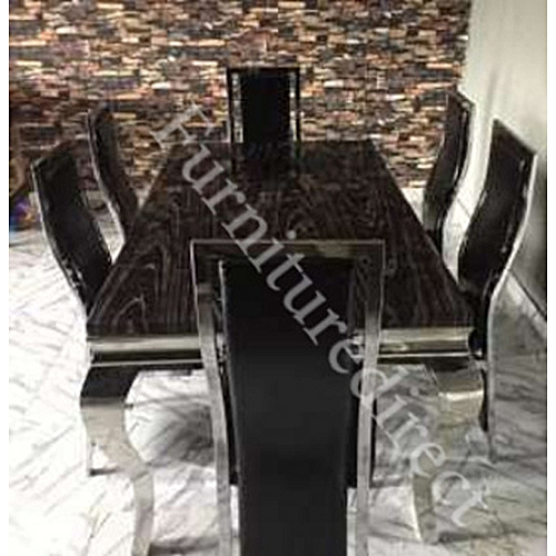 6 Seater Oxlynggames Marble Dining Set Gift Items Available