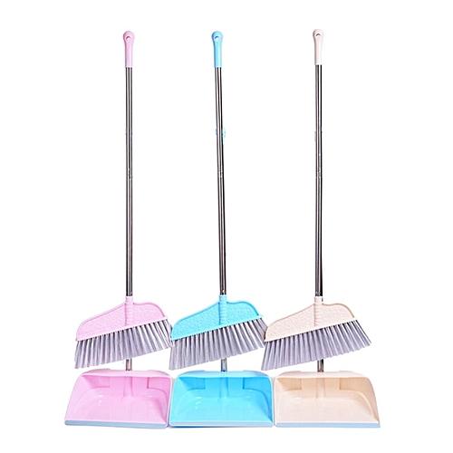 Household Sweeper Dustpan Set Stainless Steel Sweeping Cleaning Brush Tool Sweep Hair Removing Broom