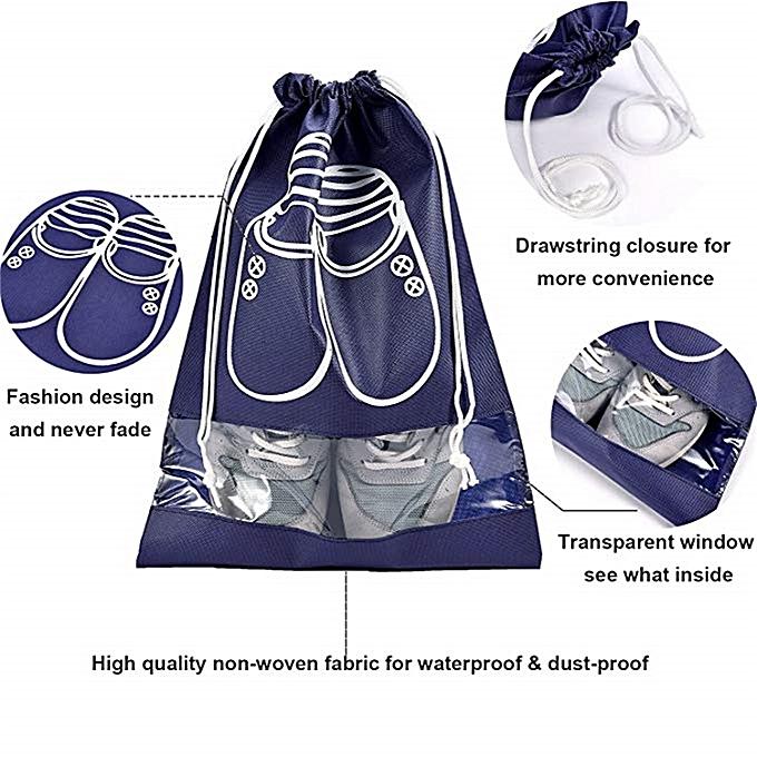 5ec939883e4d 10 Pcs Portable Travel Shoe Bags Dust-Proof Drawstring Space Saving Shoe  Storage Bags