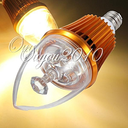 E12 6W LED Warm White Candle Light Bulb Candelabra Lamp Non-Dimmable 85-265V