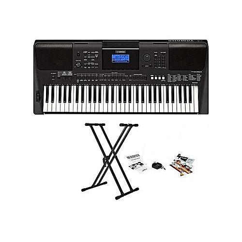 Yamaha PSR-E463 Portable Keyboard With Yamaha Power Adapter And Keyboard Stand