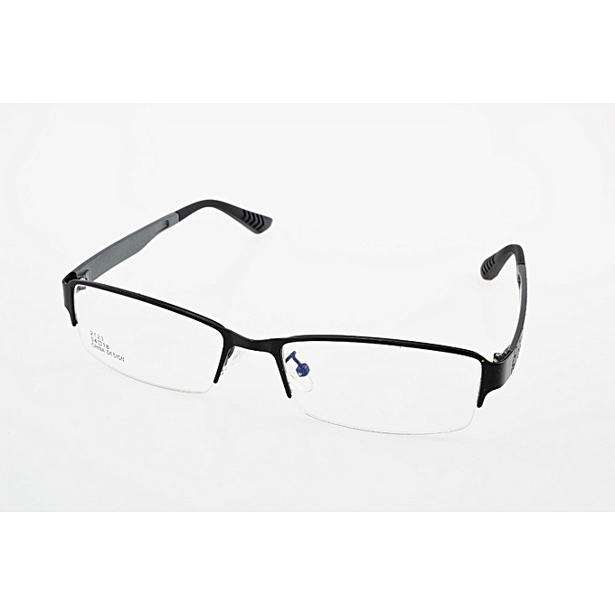 2b22e04ddb Fashion Black Half Rim Business Optical Frames Eyegles Alloy