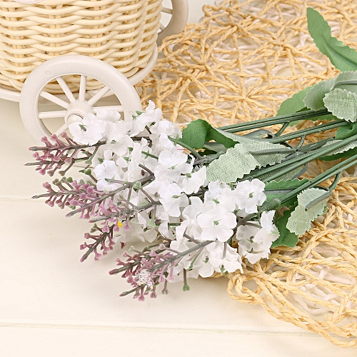 10 Artificial Flowers Flower Head Simulation Lavender Flowers