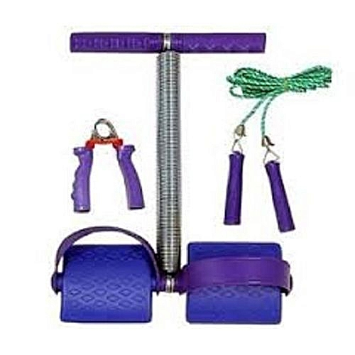 Set Of Tummy Trimmer, Hand Grip And Skipping Rope