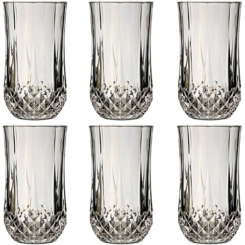 6PC CRISTAL D'ARQUES LONGCHAMP GLASS WATER