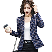 c47263daf13 Soft And Comfortable High-quality Plaid Jacket With Pocket Office Lady  Casual Style Blazer Women