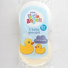 2 Soft Baby Sponges