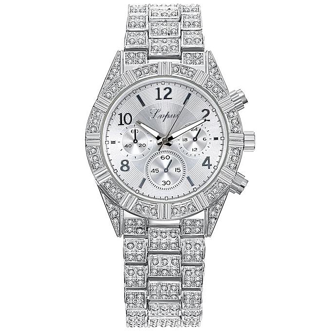 Lvpai New Fashion Alloy Crystal Quartz Rhombus Bracelet Bangle Women's Wrist Watch