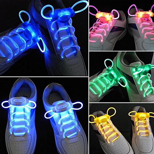 LED Sport Shoe Laces Flash Light Glow Stick Strap Shoelaces Disco Party Club