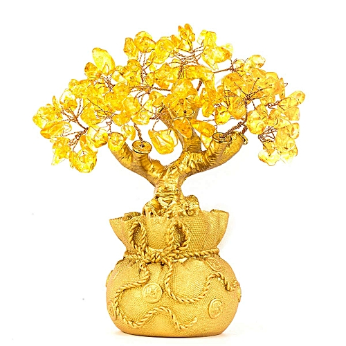 Gold Crystal Money Tree Office Home Decoration For Wealth And Lucky