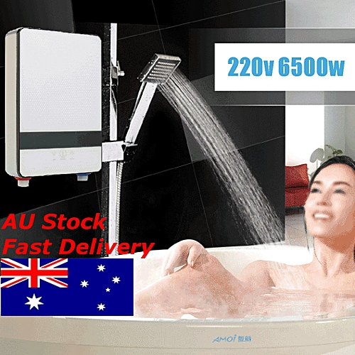 """11"""" 220V 6500W Instantaneous Instant Water Heater Induction Heater Thermostat"""