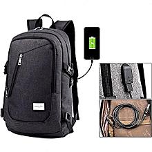 238d55bf2e7a Men  039 s Travel Shoulder Smart Backpack  amp  Laptop Bag USB Charger  School