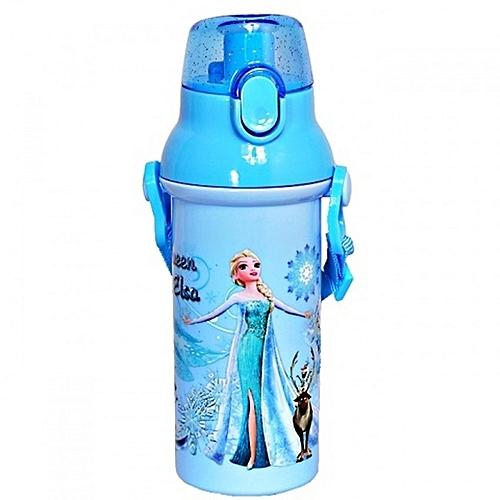 Queen Elsa Plastic Waterbottle - Blue