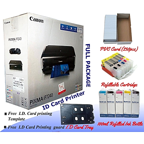 Pixma IP7240 ID Card Business Low Cost Printer - Full Package