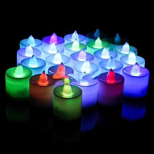Electronic Tea Light LED Candle Cool White Warm White Amber Color Candle For Wedding MultiColor