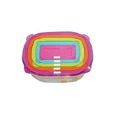 Storage Containers (5)Pc- Multicolor