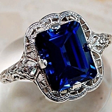 Used, RAN Natural Silver Gemstone Luxury Court Blue Birthstone Engagement Wedding Ring for sale  Nigeria