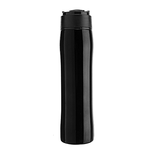 Self Lock Portable French Press Bottle Mug Thermal Drinker Filter Coffee Espresso Maker Travel Camping Coffee Making Tools 350ml Black